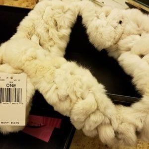 Rabbit fur wrap